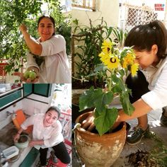 And that's me doing some gardening & sharing happiness