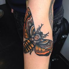 Death moth (at The Family Business Tattoo Shop)