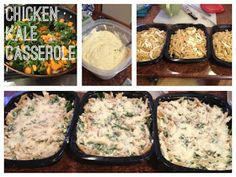 Chicken Kale Casserole for freezer (with squash & green beans!)