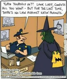 Witch On Halloween, Trying To Turn Herself In To A Cop, But Why?