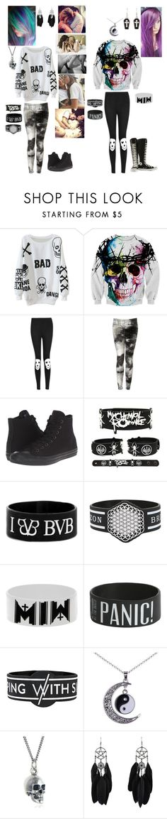 """""""Me And Boo Hanging Out, Watching Movies & Cuddling"""" by serenity-sempiternal2006 ❤ liked on Polyvore featuring Boohoo, Topshop, Converse and Black Pearl"""