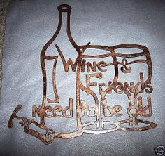 Wine Wall Art metal wall art wine and dinehaasmetaldesigns on etsy, $25.00