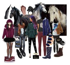 """""""dark horse"""" by jellyabp ❤ liked on Polyvore featuring Topshop, Nisan, Chicnova Fashion, GUESS, Dr. Martens, Dolce&Gabbana, Gucci, Lancôme, IRO and Joules"""