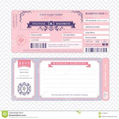 Creative Picture of Free Wedding Invitations Templates Free Wedding Invitations Templates Boarding Pass Wedding Invitation Template Stock Vector Boarding Pass Template, Boarding Pass Invitation, Ticket Template, Ticket Invitation, Invitation Layout, Invite, Templates Printable Free, Free Printables, Free Downloads