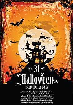 Free Flyer Templates For Halloween - halloween poster templates 25 editable vector files to collect Photo Halloween, Halloween Party Flyer, Halloween Poster, Halloween Banner, Hallowen Party, Halloween Vector, Halloween Pictures, Halloween Themes, Horror Party