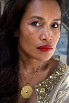 Somaly Mam. Founder of the Somaly Mam Foundation, which helps victims of human trafficking in Cambodia.....this woman is my hero. She risks her life to save little girls from brothels around the world, and brings them to safety and healing.