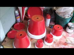 How To Make A Lighthouse With Recycled Flower Pots - DIY Home Tutorial - Guidecentral - YouTube