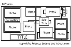 Image result for scrapbooking layouts 2 photos