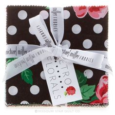 Retro Floral Charm Pack - spontaneous sale purchase - fun to have in my stash. The perfect pattern will reveal itself shortly.