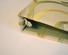 Fabric Covered Binder Tutorial - recover old photo albums for open storage