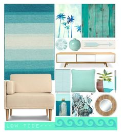 """""""Low Tide"""" by atarituesday ❤ liked on Polyvore featuring interior, interiors, interior design, home, home decor, interior decorating, Emissary, Rosanna, Sloane and Dot & Bo"""