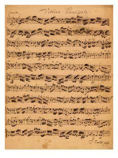 Music Score ... The Brandenberg Concerto by Johann Sebastian Bach