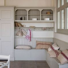 Mudroom.  Or I could see this in a kitchen corner, too.