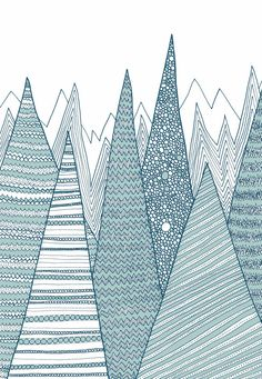 Mountains / Greeting card by anitaivancenko on Etsy, £2.00