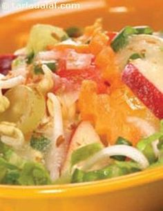 The best way to replenish our body's water and electrolyte needs is through fresh servings of fruits and vegetables. This recipe calls for a wide assortment of fruits and vegetables tossed together in a refreshing musk melon dressing. Very healthy, extremely enjoyable!