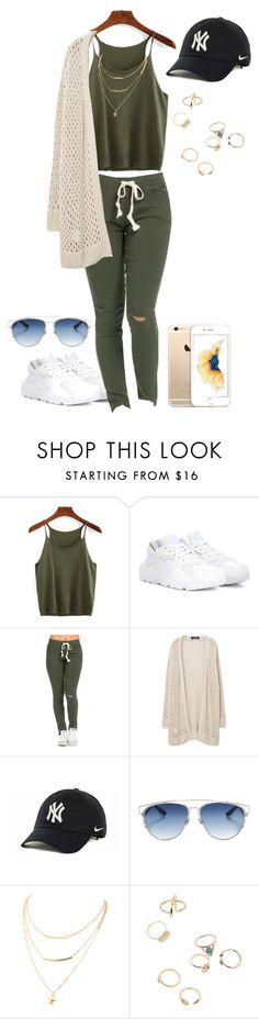 """Outfit for School"" by frodriguez0802 on Polyvore featuring NIKE, Violeta by Mango and Christian Dior"
