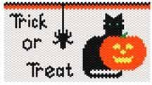 Halloween Cat Bag  Earrings at Sova-Enterprises.com