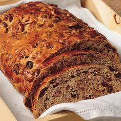 Sweet Bread Loaf with Dried Figs and Walnuts