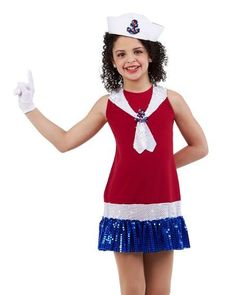 Anchors Aweigh Sailor Dress & Gloves Halloween Dance Costume Child & Adult New #Cicci