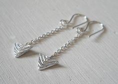 Chevron Arrowhead Earrings Silver Arrow Earrings Tribal Jewelry Archery Chevron Jewelry Womens Accessories Under 30. $28.00, via Etsy.