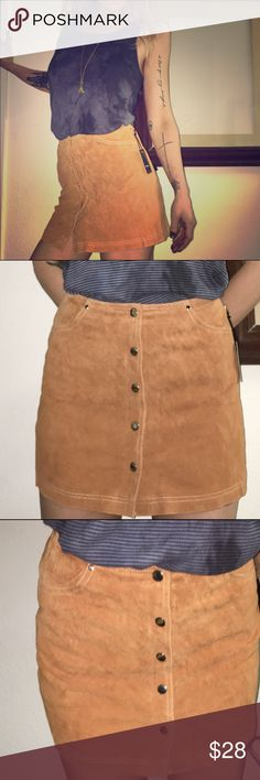 Forever 21 leather suede skirt New with tags Skirts Mini