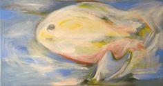 "Saatchi+Art+Artist+Tereza+Visinkova;+Painting,+""Big+fish""+#art"