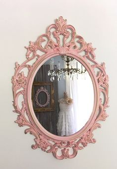 Baroque Wall Mirror gold framed mirror, shabby cottage chic mirror, large wall mirror