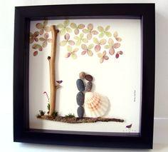 Unique Engagement Gift Wedding Gift Pebble Art Unique