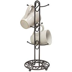 Amazon.com - Home Basics Scroll Collection Mug Tree - Mug Hooks $8.95