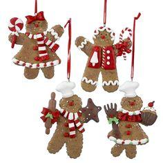 """The Jolly Christmas Shop - Kurt Adler 4"""" Claydough Gingerbread Man Ornament D0655, $4.99 (https://www.thejollychristmasshop.com/kurt-adler-4-claydough-gingerbread-man-ornament-d0655/)"""