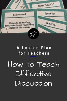 5 Tips for Teaching Effective Discussion Teaching Strategies, Teaching Resources, Teaching Ideas, Teaching Social Studies, Teaching History, Teacher Lesson Plans, Study Skills, New School Year, Early American