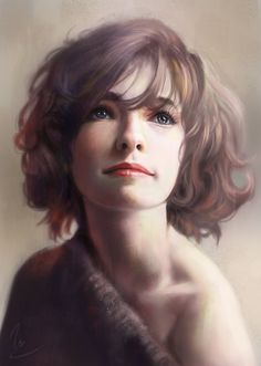 """Portrait Study"" - Vu Nguyen {figurative realism art female head woman face digital painting}"