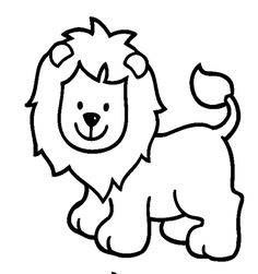 Pages Coloring Pages For Kids Printable animals Simple Animal ...