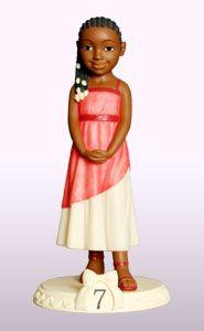 Ebony Birthday Girl Age 7 Figurine Dimension: 6″H