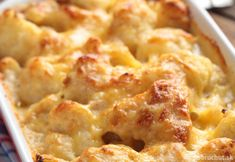 Looking for low carb cauliflower recipes? This cheesy cauliflower casserole is a great side dish. It is quick and easy to make and is healthy to boot! I eat cauliflower with a lot meals. Side Dish Recipes, Vegetable Recipes, Low Carb Recipes, Cooking Recipes, Califlour Recipes, Recipies, Cheesy Cauliflower, Cauliflower Gratin, Frozen Cauliflower Recipes
