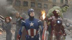 The Avengers-Captain America (Chris Evans),Hawkeye (Jeremy Renner),Thor (Chris Hemsworth),Iron Man (Robert Downey Jr.),The Hulk (Mark Ruffalo). Avengers 2012, Marvel Avengers, Avengers Black Widow, Avengers Movies, Superhero Movies, Captain Marvel, Avengers Team, Marvel Fan, Marvel Universe