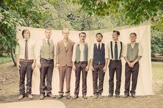 Mismatched groomsmen