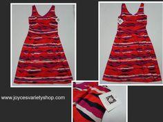 Anne Klein Fuchsia Combo Sleeveless Sundress Size 6