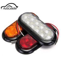 """1Pcs 12V 10LED 6"""" LED Trailer Truck Rear Tail Brake Stop Rear Reverse   Light Indicator Reverse Lamp"""
