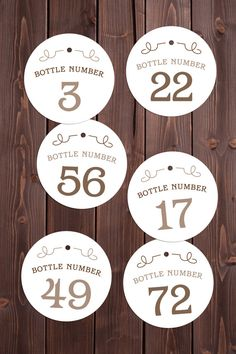 printable bottle number tags | ideal for charities, wine grab events and fundraisers