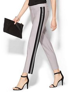 Vince Triple Striped Strapping Trouser   Piperlime