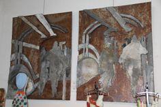 De Texel van zink kanstenaar Peter Wortel Painting, Art, Kunst, Art Background, Painting Art, Paintings, Performing Arts, Painted Canvas, Drawings