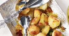 Give the traditional elements of Christmas a modern twist with this elegant roast potato side.