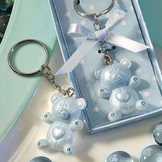 Blue Teddy Bear Design Favor Saver key chains 8319-FC