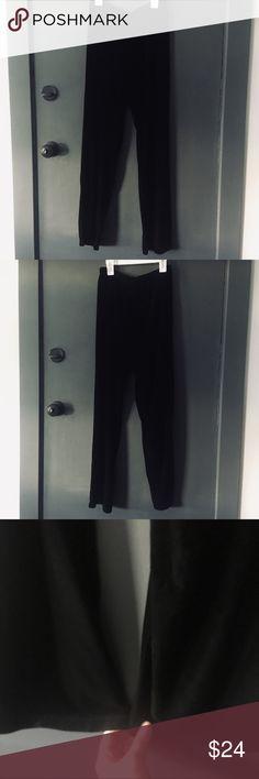 Vintage Avocado black jaquard floral elastic wide leg trousers,pants.size 40 m