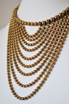Antique Bib Fringe Necklace by evertonterrace on Etsy Bead Jewellery, Pearl Jewelry, Beaded Jewelry, Jewelery, Vintage Jewelry, Jewelry Necklaces, Handmade Jewelry, Beaded Necklace, Unique Jewelry