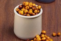 Roasted Chic Peas... Add paprika, onion, sea salt, garlic, cayenne. Alternative to processed salted nuts.