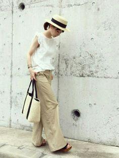 FREE'S MARTのハット「雑材カンカン帽」を使ったari☆のコーディネートです。WEARはモデル・俳優・ショップスタッフなどの着こなしをチェックできるファッションコーディネートサイトです。