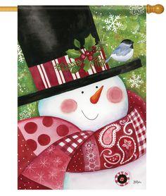IAmEricas Flags - Paisley Snowman House Flag, $24.00 (http://www.iamericasflags.com/paisley-snowman-house-flag/)