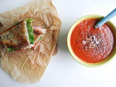 shallot balsamic tomato soup / recipe